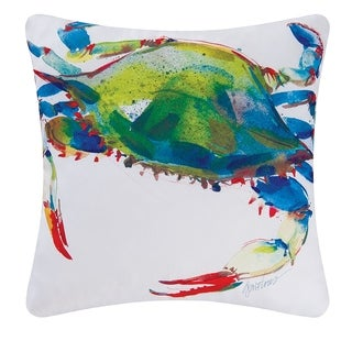 Crab Indoor / Outdoor 18 Inch Throw Pillow