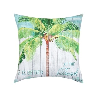 Palm Tree Coastal Tropical Indoor/Outdoor 18x18 Throw Decorative Accent Throw Pillow