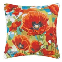 Poppy Field Indoor/Outdoor Throw Pillow 18 inch