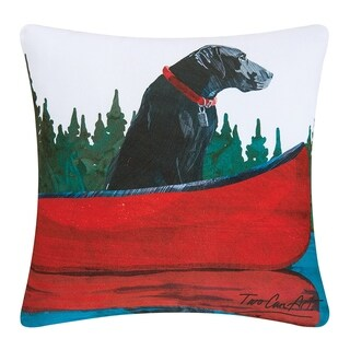 Black Lab Printed 18 Inch Accent Pillow