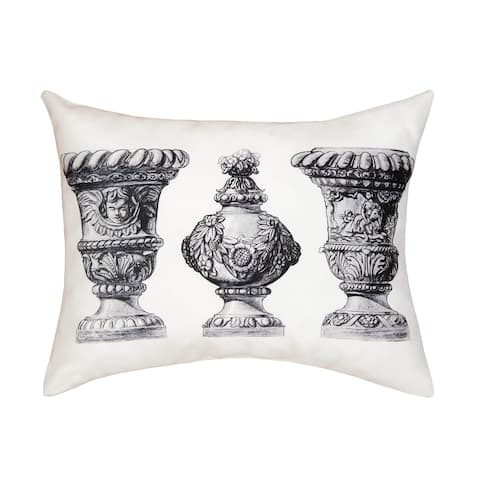 Palace Urns Printed 14x18 Accent Decorative Accent Throw Pillow