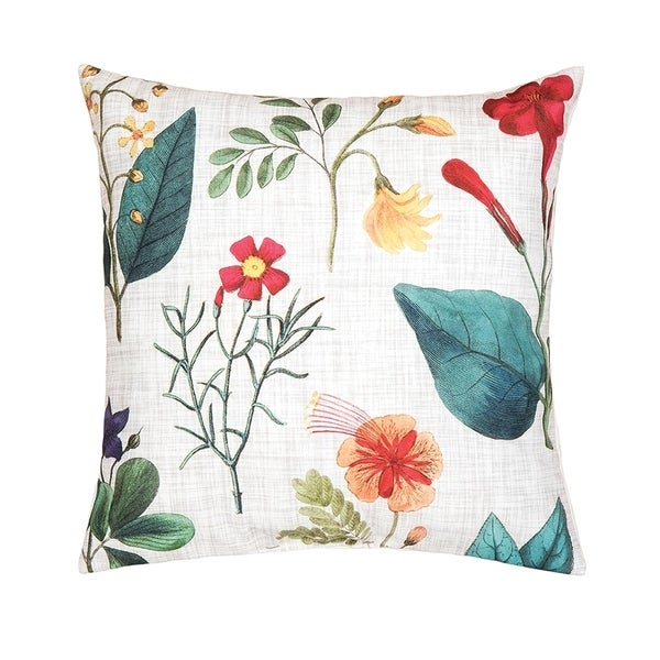 Botanical Printed 18 Inch Accent Pillow
