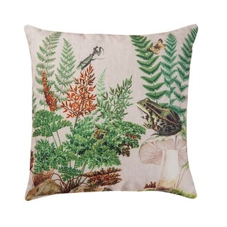 Fern & Frog Printed 18 Inch Accent Pillow