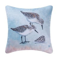 Sand Pipers Indoor / Outdoor 18 Inch Throw Pillow