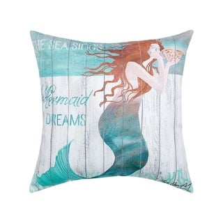 Mermaid Dreams Printed 18 Inch Accent Pillow