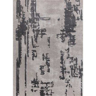 Sam Tlight Collection Gray Area Rug (4' x 6') - 3'9 x 5'2