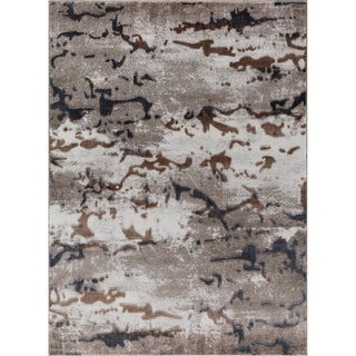 Shores Tlight Collection Beige Area Rug (4' x 6') - 3'9 x 5'4/3'9 x 5'3/3'9 x 5'2