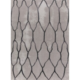 Seren Tlight Collection Gray Area Rug - 7'10 x 10'2