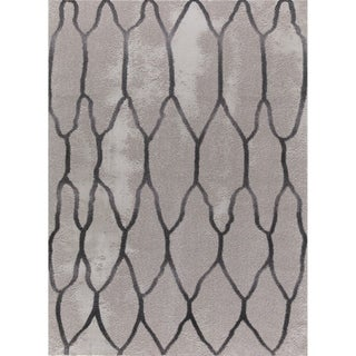 Seren Tlight Collection Gray Area Rug (4' x 6') - 3'9 x 5'2