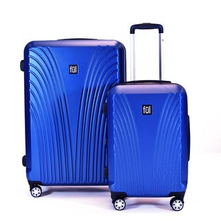 Ful Curve Geo Midnight Blue 2-piece Expandable Hardside Spinner Luggage Set