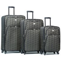 World Traveler Signature Designer Print 3-Piece Expandable Spinner Luggage Set