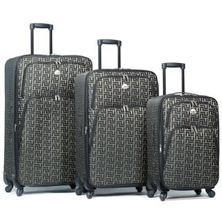 Link to World Traveler Signature Designer Print 3-Piece Expandable Spinner Luggage Set Similar Items in Luggage Sets