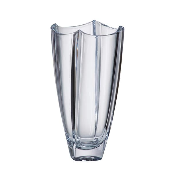 Majestic Gifts European Glass Crystalline Vase Made In Europe