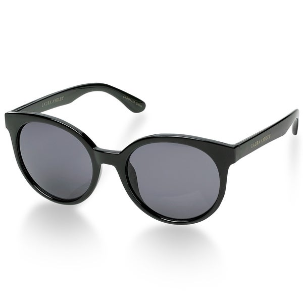 5160d8bba9 Shop Laura Ashley MOLLIE Retro Black Round Sunglasses - Free Shipping On  Orders Over  45 - Overstock - 20708783