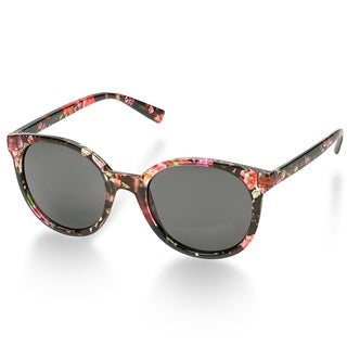 Laura Ashley Retro Floral Round Sunglasses - Red