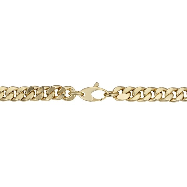 Fremada Italian 14k Yellow Gold Curb Link Bracelet (6.2 millimeters wide x 7.5 inches long)