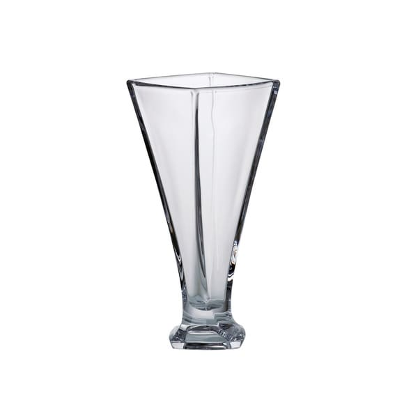 Majestic Gifts European Glass Crystalline Footed Vase With A