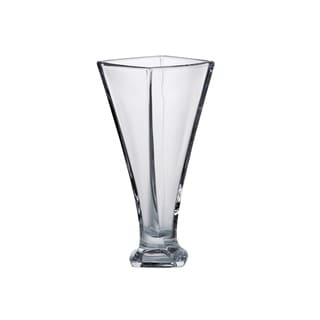Majestic Gifts European Glass -Crystalline - Footed Vase With a Twist