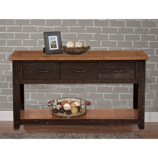 Martin Svensson Home Rustic Series 3-Drawer Solid Wood Console - Sofa Table