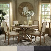 Deana Round Dining Set with Arched Bridge Chairs by iNSPIRE Q Artisan