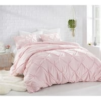BYB Rose Quartz Pin Tuck Comforter