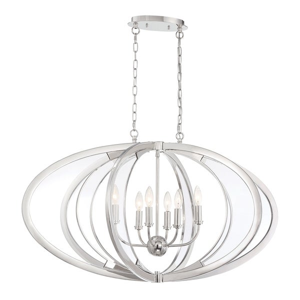 Eurofase Amherst Cocooned Nickel Metal 6-light Chandelier