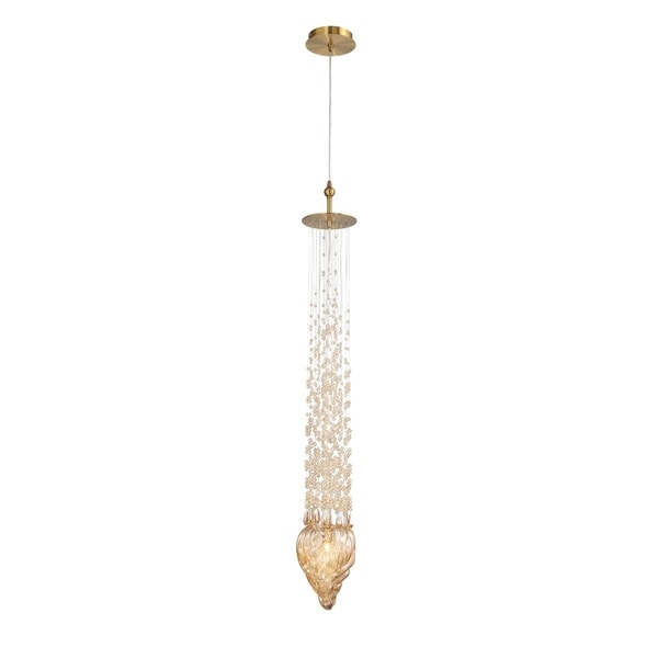 Eurofase Cascata Blown Glass 1-Light Pendant - 33747-019