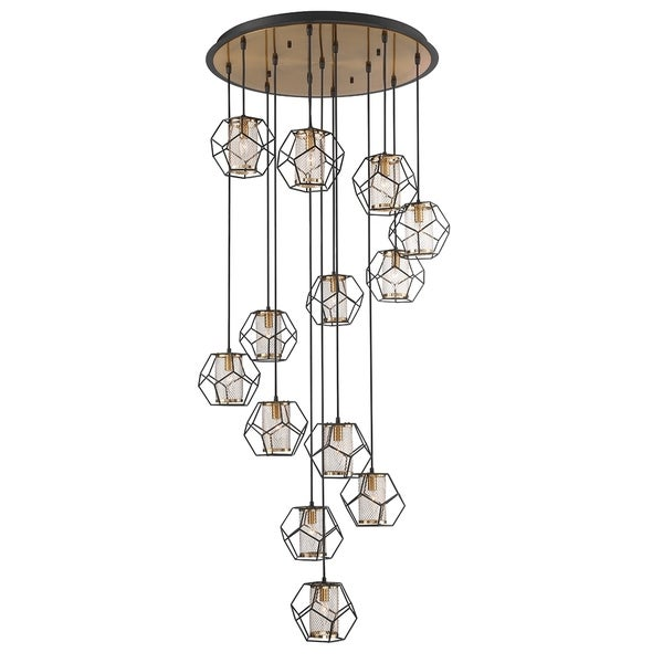 Eurofase Bettino Caged 13-Light Chandelier - 33703-015
