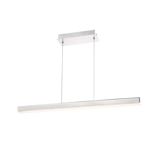 Eurofase Santi Chrome Metal Small LED Linear Chandelier