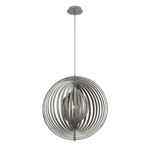 Eurofase Abruzzo Sleek Retractable Wood Large Light Pendant in Weathered Finish - 31872-017