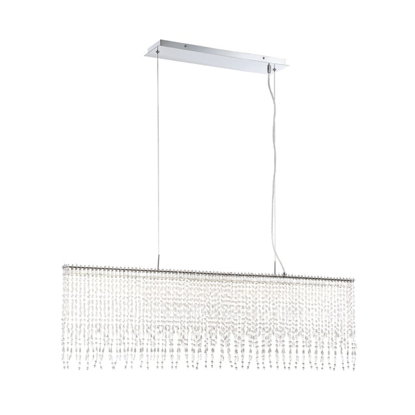 "Eurofase Atwater Hand-Beaded Large Linear LED Chandelier - 34043-011 - 15"" high x 48"" wide x 2"" long"