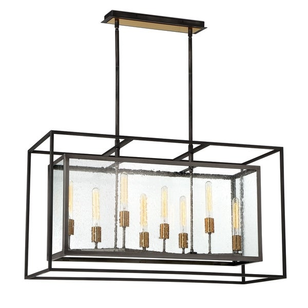 Eurofase Affilato Seeded Glass 8-Light Chandelier - 33697-017