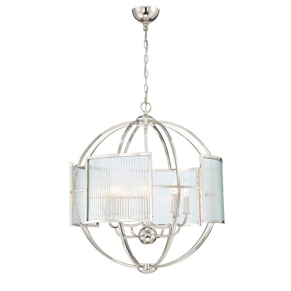 Eurofase Manilow Orb Polished Nickel Metal 8-light Chandelier