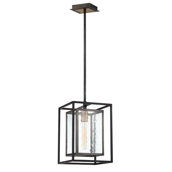 Eurofase Affilato Metal/Seeded Glass 1-light Pendant