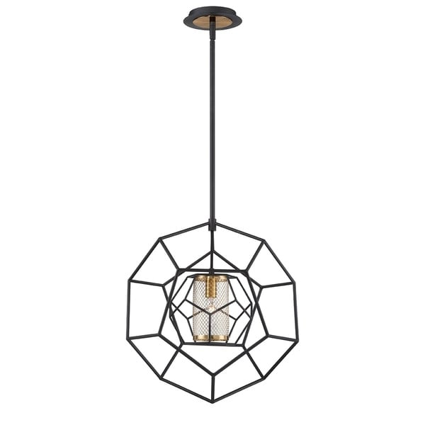 "Eurofase Bettino Caged 1-Light Pendant - 33700-014 - 17.50"" high x 16.50"" in diameter"