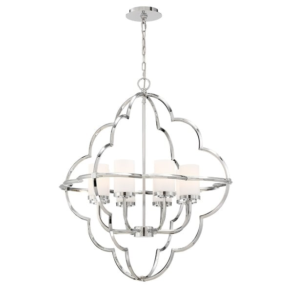"Eurofase Douville Ethereal 8-Light Chandelier - 33706-016 - 32.50"" high x 30.25"" in diameter"