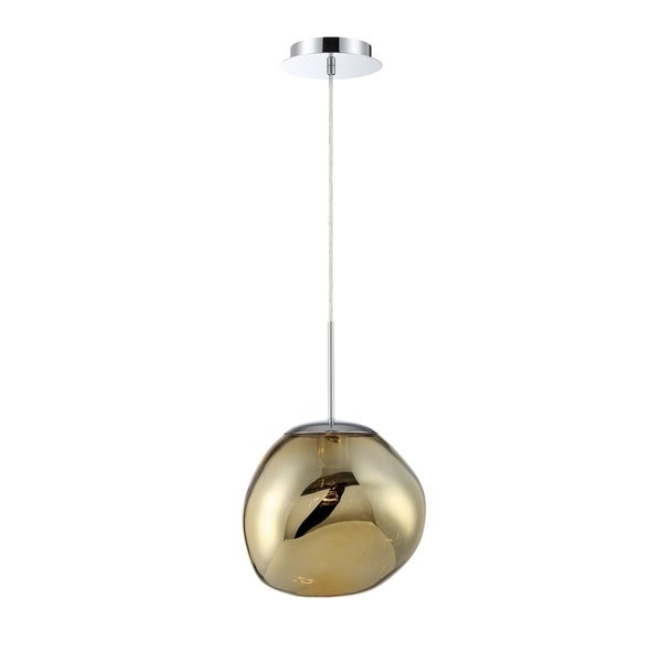 Eurofase Bankwell Pearlized Orb Light Pendant in Gold - 34287-033