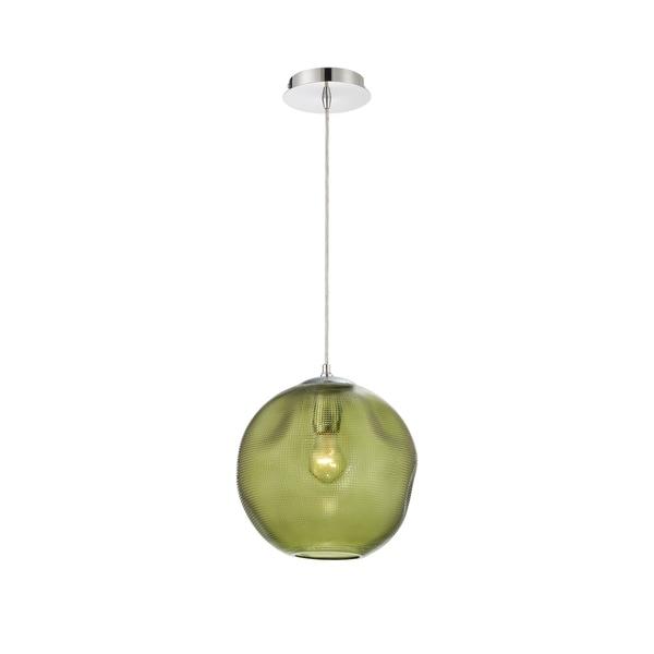 Eurofase Della Large Round Glass Pendant in Green - 34036-037