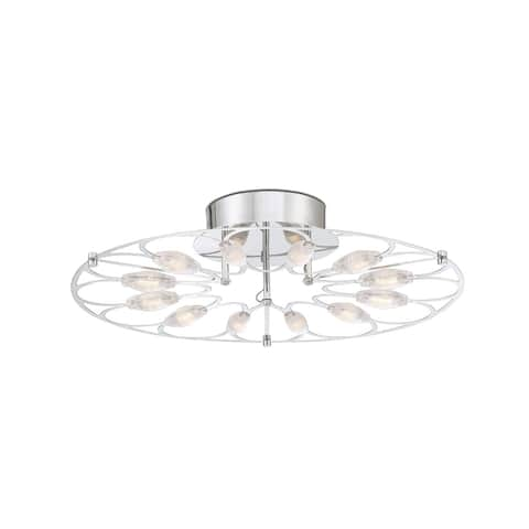 "Eurofase Rotolo Small LED Surface Mount - 34066-010 - Silver - 4"" high x 17.75"" in diameter - 4"" high x 17.75"" in diameter"