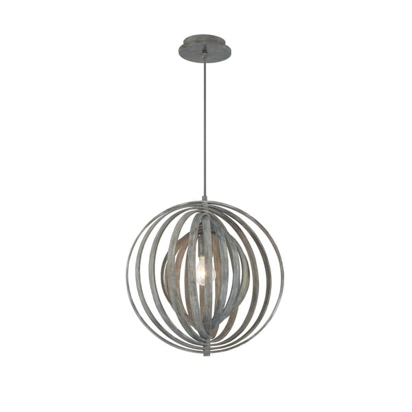 Eurofase Abruzzo Weathered Wood Sleek Retractable Small Pendant Light