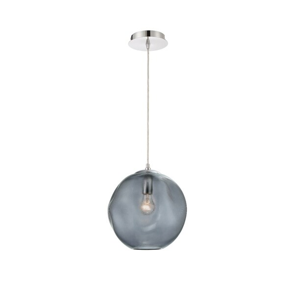 Eurofase Della Large Round Glass Pendant in Smoke - 34036-020