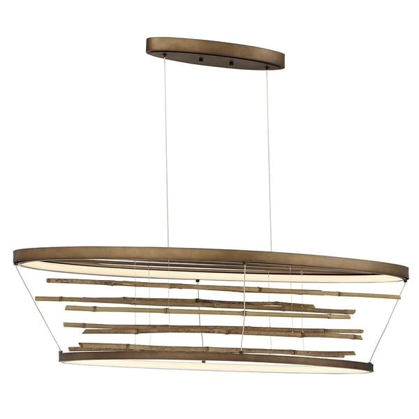Eurofase Bobina Bamboo Small Oval LED Chandelier