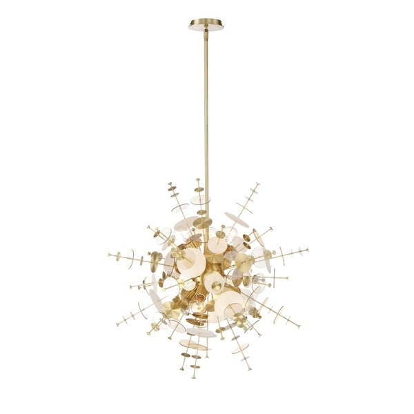 Eurofase Bonazzi Retro Medium Chandelier in Brass - 34083-017