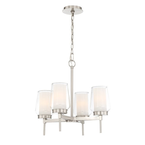 Eurofase Manchester Customizable 4-Light Chandelier in Nickel - 34093-023