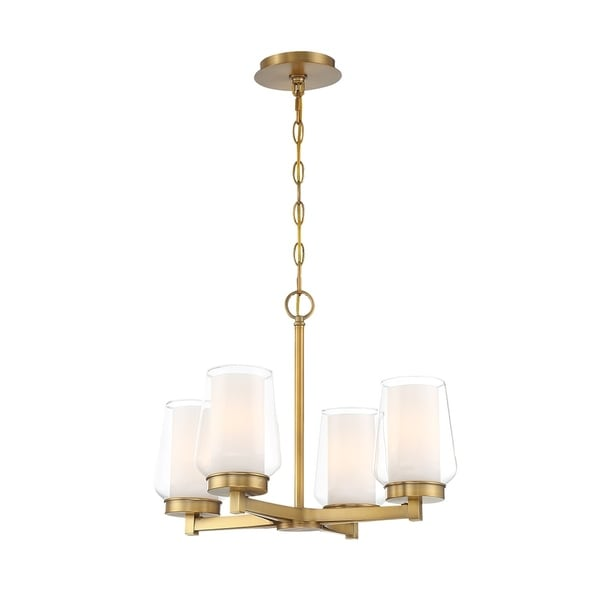 Eurofase Manchester Customizable 4-Light Chandelier in Brass - 34093-016