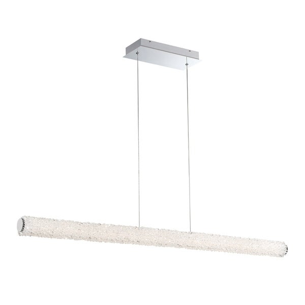 """Eurofase Sassi LED Large Linear Chandelier - 34155-011 - 2.75"""" high x 48"""" wide x 2.75"""" long"""