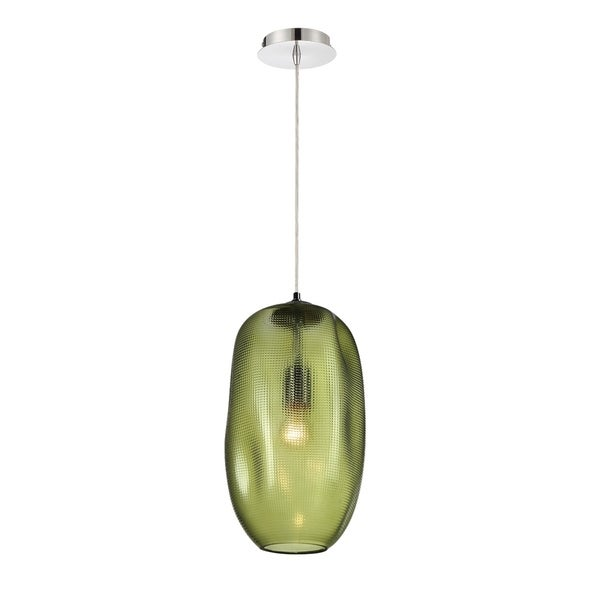 Eurofase Labria Large Glass Pendant in Green - 34034-033