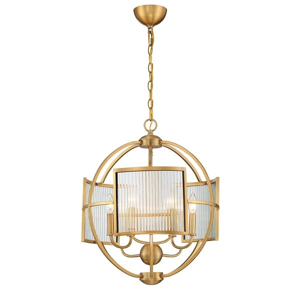 Eurofase Manilow Orb Brass Metal 6-light Chandelier
