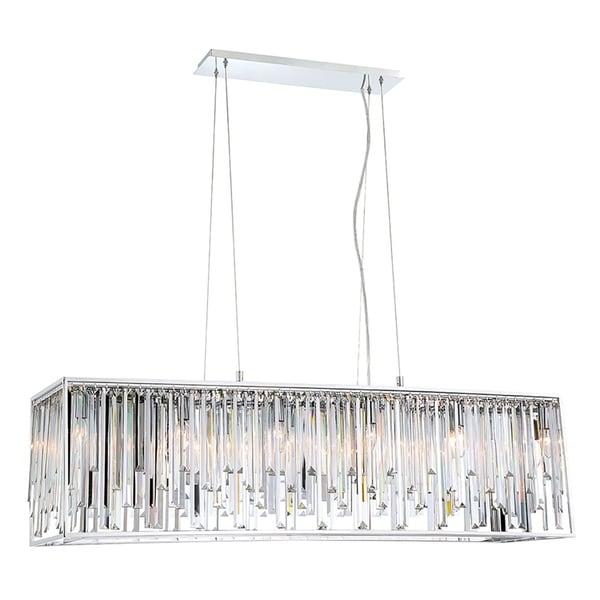 Eurofase Genova Sleek Crystal 12-Light Double Rectangle Chandelier - 34079-010