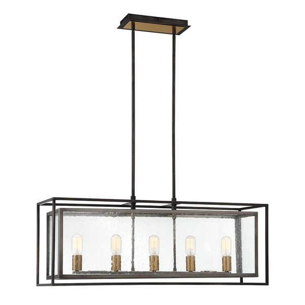 Eurofase Affilato Seeded Glass 5-Light Chandelier - 33696-010